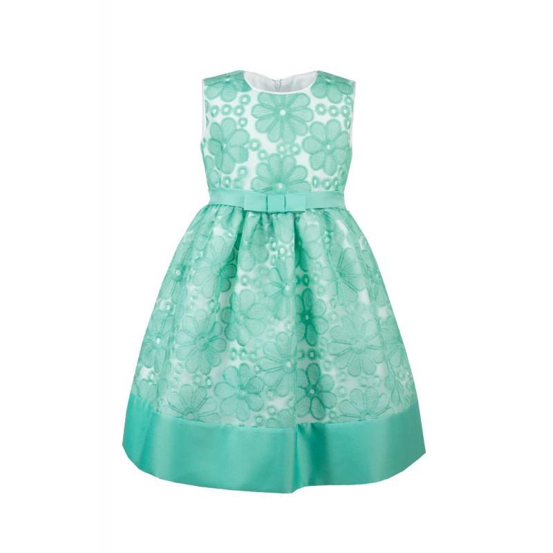 Rochie verde Alexa, marimi 3-5 ani