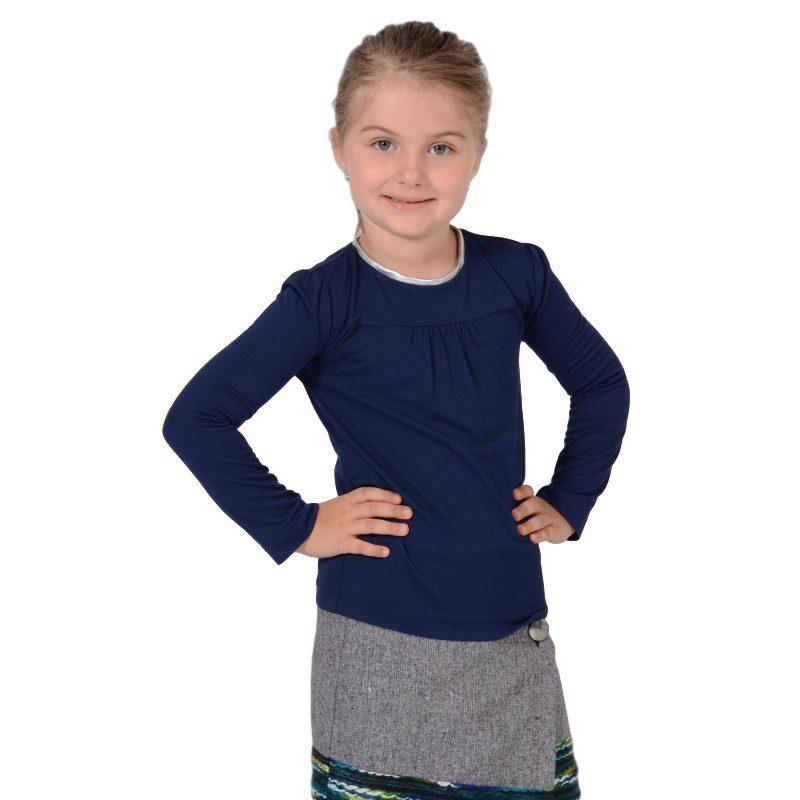 Bluza copii din tricot bleumarin, marimi 3-12 ani