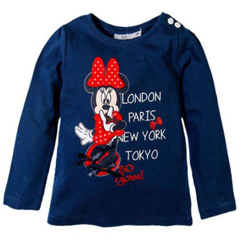 Bluza fete Minnie bleumarin, marimi 3-8 ani