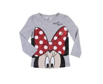 Bluza fete Minnie gri, marimi 3-8 ani