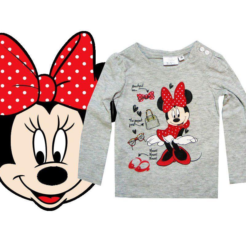 Bluza Minnie gri, marimi 3,6 ani