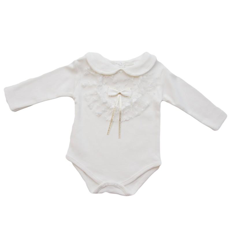 Body fete dantela alb, marimi 6,9 luni