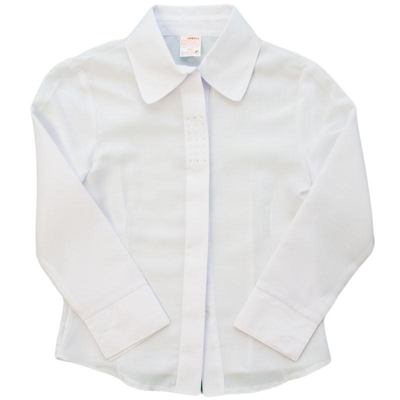 Camasa alba fete cu strasuri, marimi 5-10 ani