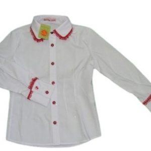 Camasa fete VICKI alb rosu, marime 5 ani