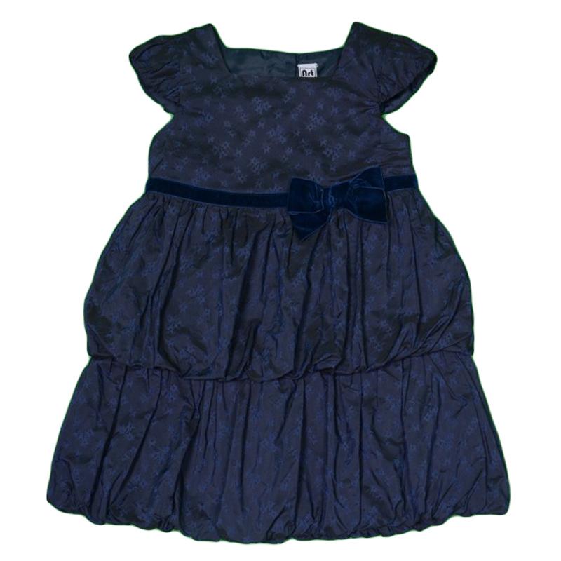 Rochie fete cu fusta balon si fundita