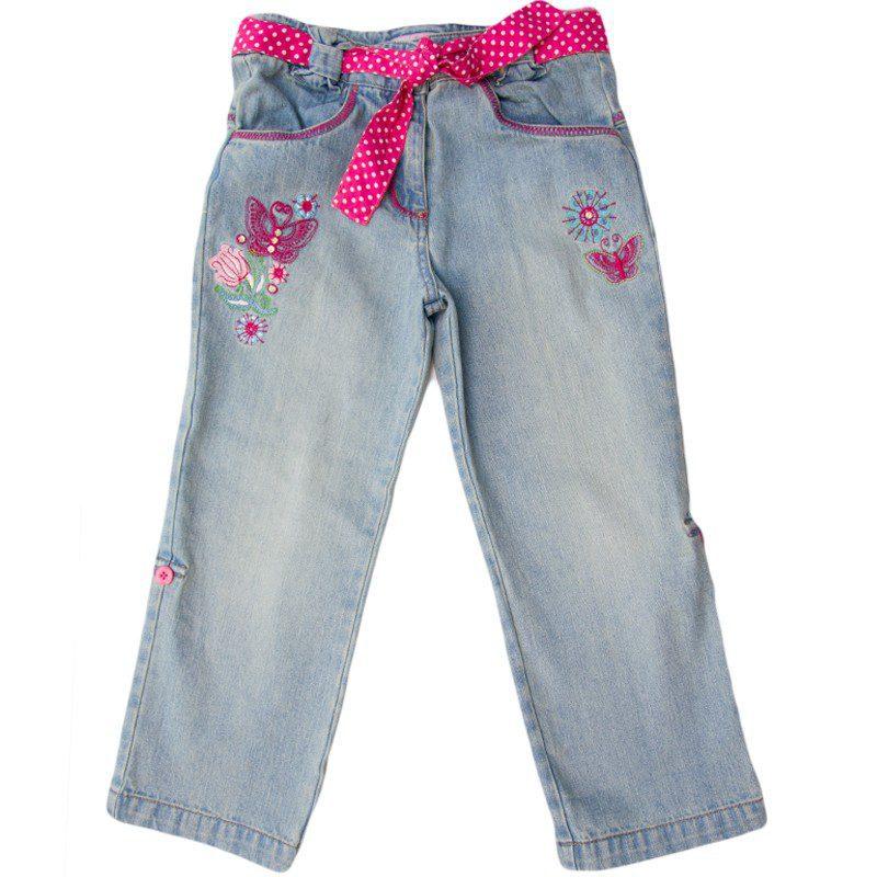 Jeansi fete fluturasi, marimi 3-6 ani