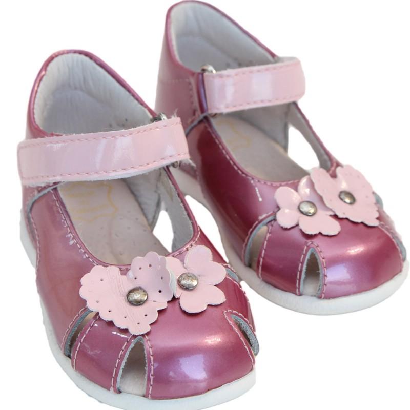 Pantofi fete piele NELLY roz 24