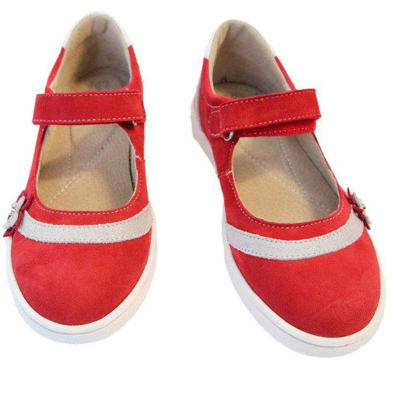 Pantofi fete rosii cu floricele, marimi 30,33,34