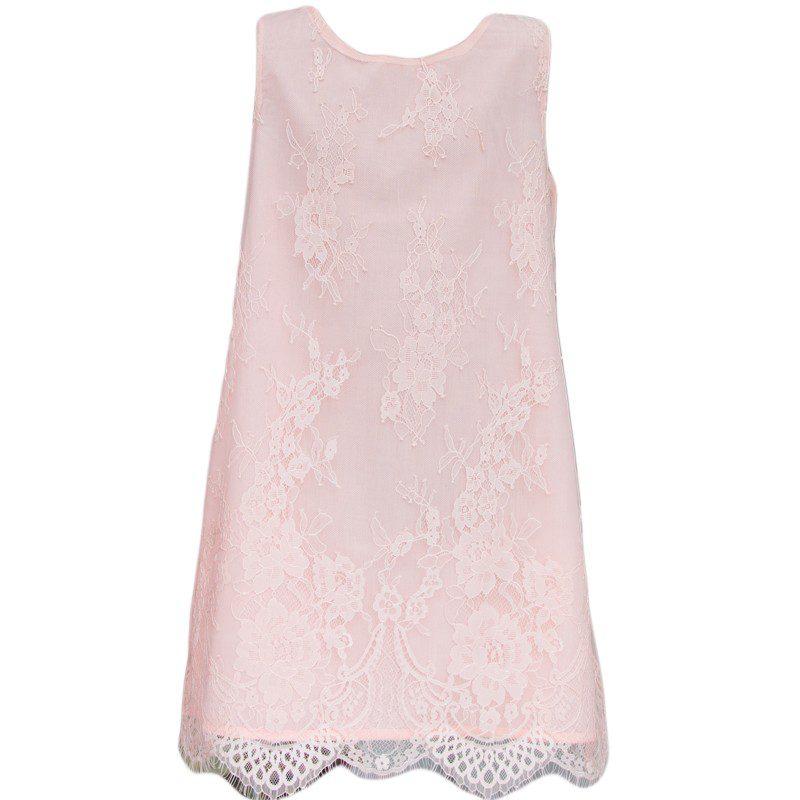 Rochie dantela roz Losan, marimi 8-16 ani