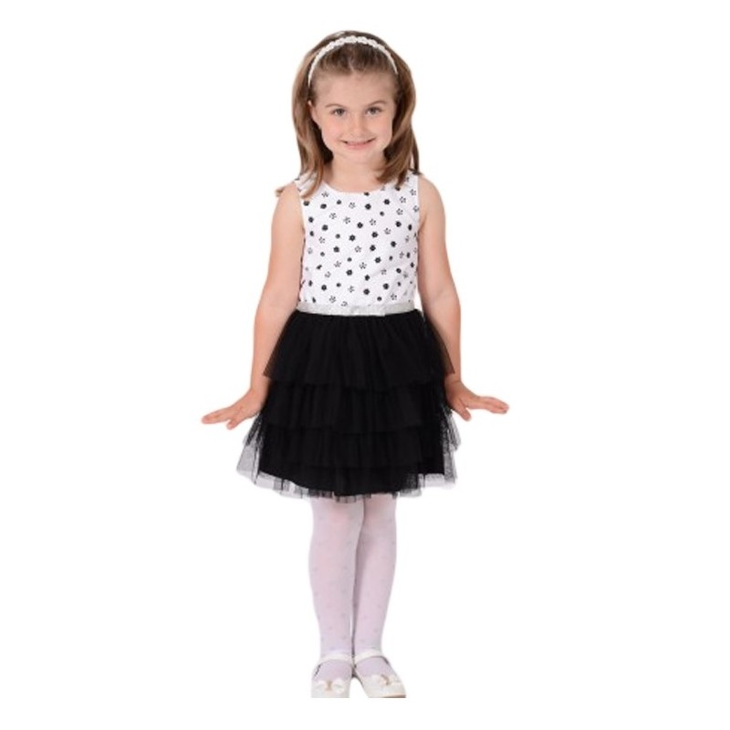 Rochie fete cu imprimeu floral si fusta din tull, marimi 3, 4 ani
