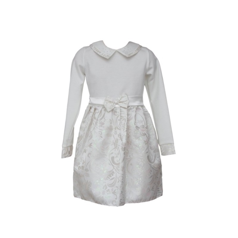 Rochie fete alb argintiu IRIS, 2-6 ani