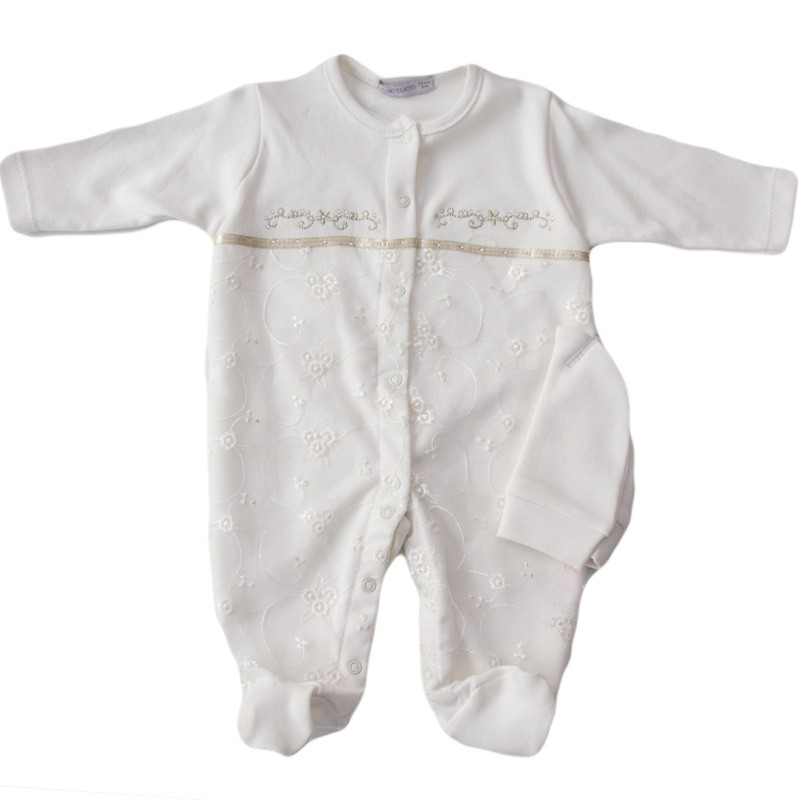 Salopeta bebe crem, marimi 0/3 luni