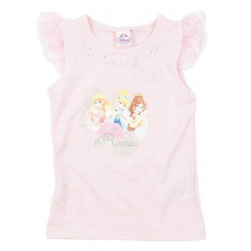 Tricou fete Princess roz, marime 3, 6 ani