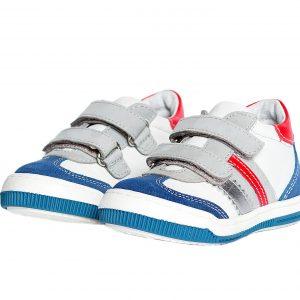 Pantofi copii Costa alb rosu, marimi 20,21