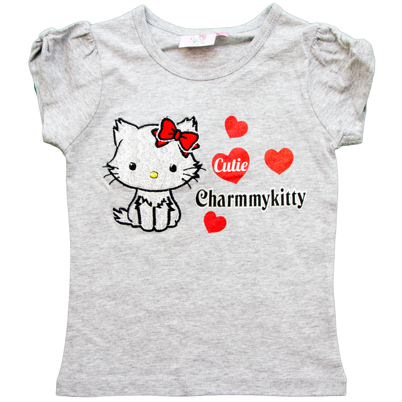 Tricou Charmmy Kitty gri 3-6 ani