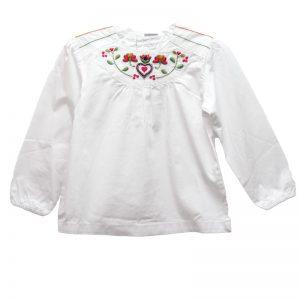 Bluza fete alba NewNess, marimi 3-24 luni