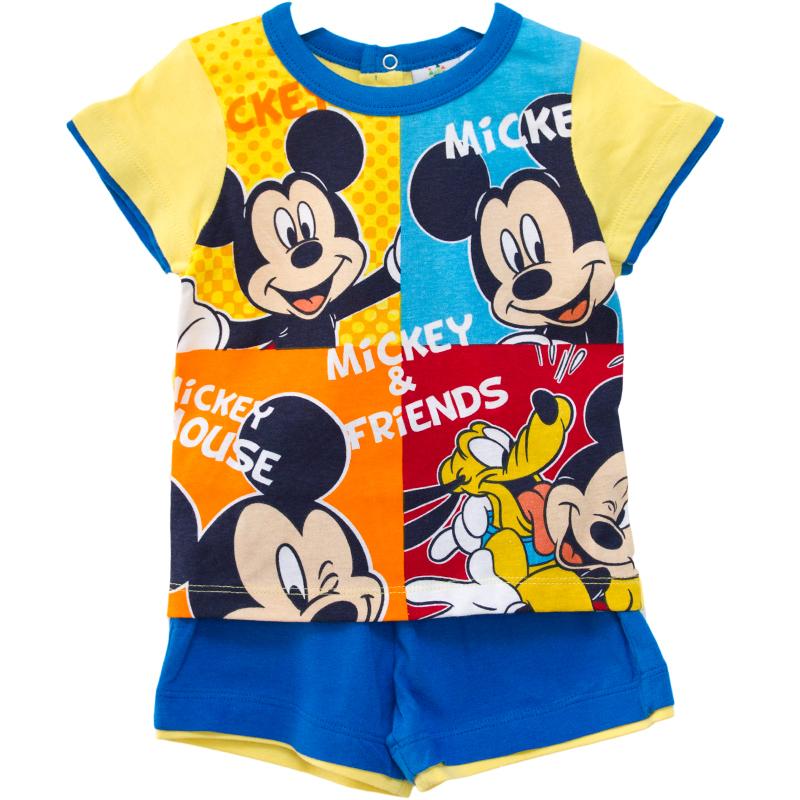 Compleu copii Mickey albastru galben