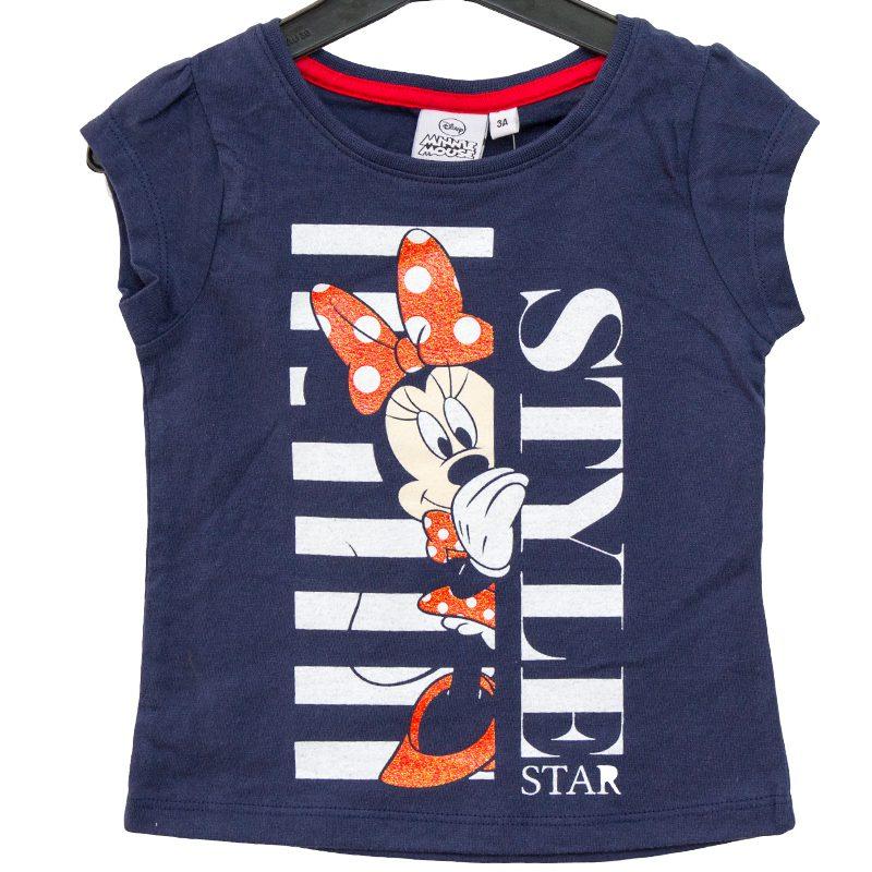 Tricou fete Minnie bleumarin 3-8 ani
