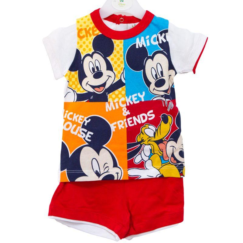 Compleu copii Mickey alb rosu