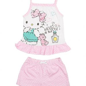 Pijama vara fete Hello Kitty roz