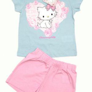 Set tricou si pantaloni scurti  Charmmy Kitty roz bleo 3-8 ani