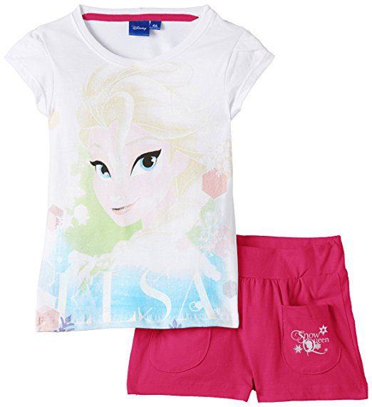 Set tricou cu pantaloni scurti Elsa Frozen 4-8 ani
