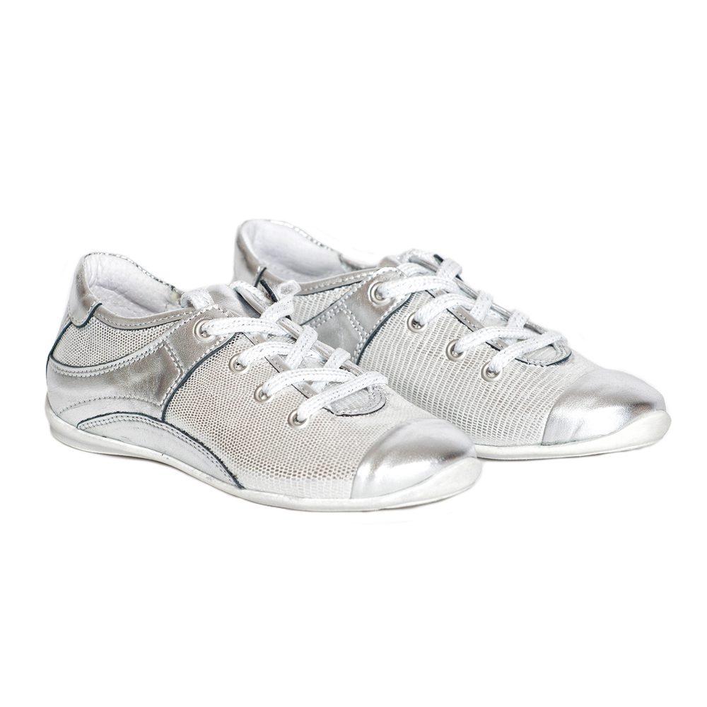 Pantofi piele Marika argintiu, marimi 32,34