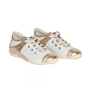 Pantofi piele Pj Shoes Marika auriu, marimi 31-38