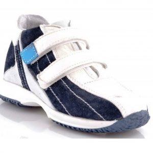 Adidasi copii piele blu/alb, marimi 20-27