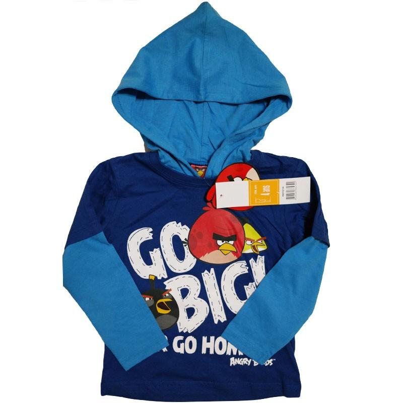 Bluza Angry Birds albastru, marimi 4-10 ani