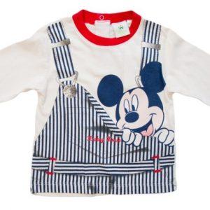 Bluza copii Mickey crem, marimi 6,12 luni