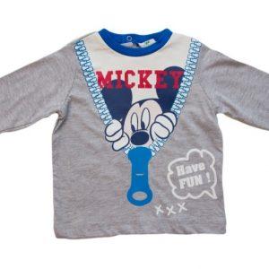 Bluza copii Mickey gri, marimi 12,18,23 luni