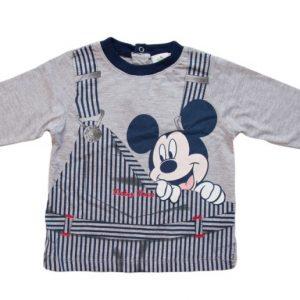 Bluza copii Mickey gri, marimi 6,12 luni