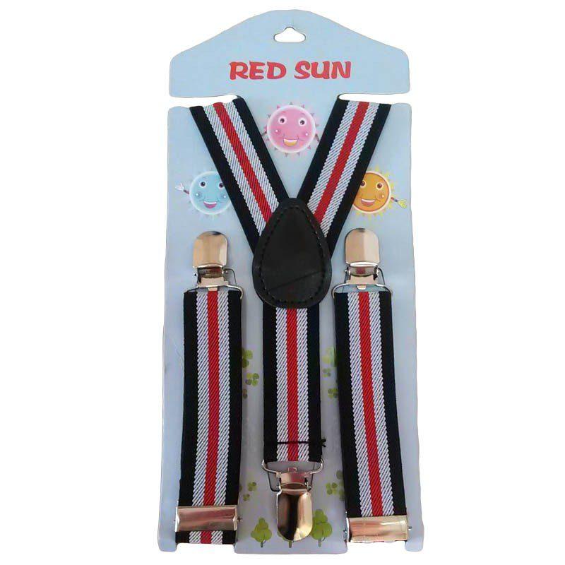 Bretele copii rosu/alb/negru