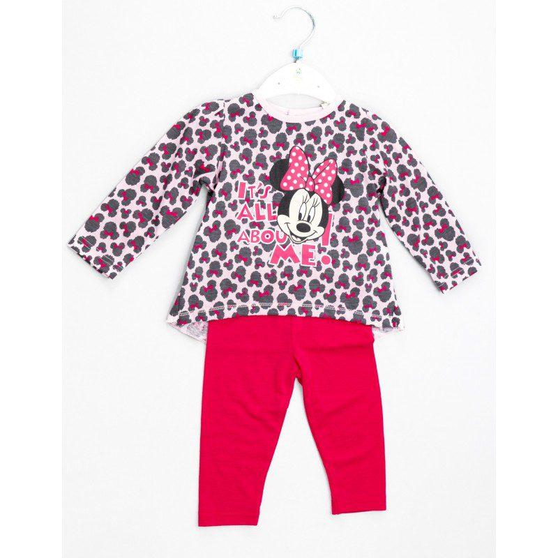 Compleu fetite Minnie roz, marimi 6-23 luni