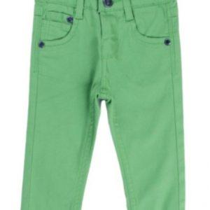 Pantaloni copii NewNess verde, marimi 6-24 luni