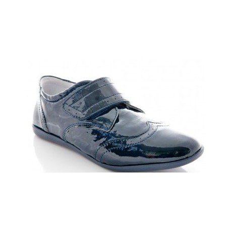 Pantofi baieti lac bleumarin, marimi 31,33