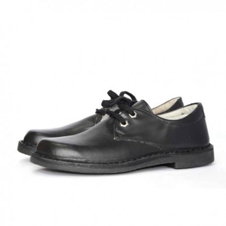 Pantofi baieti negri din piele naturala, marimi 36-39