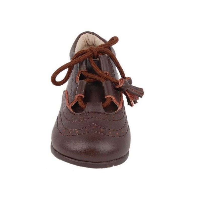Pantofi copii piele maro, marimi 19-21
