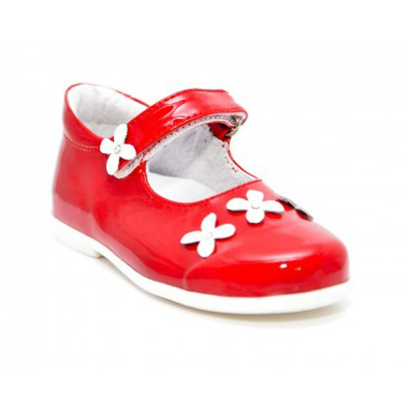 Pantofi fete Melania rosu/alb, marimi 20,21