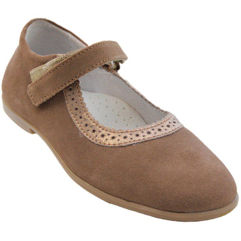 Pantofi fete piele AMMA bej, marimi 31-36