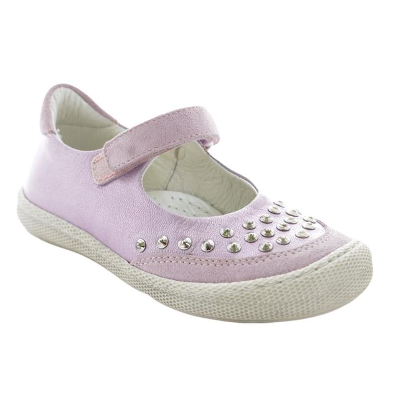 Pantofi fete piele mov, marimea 26,27