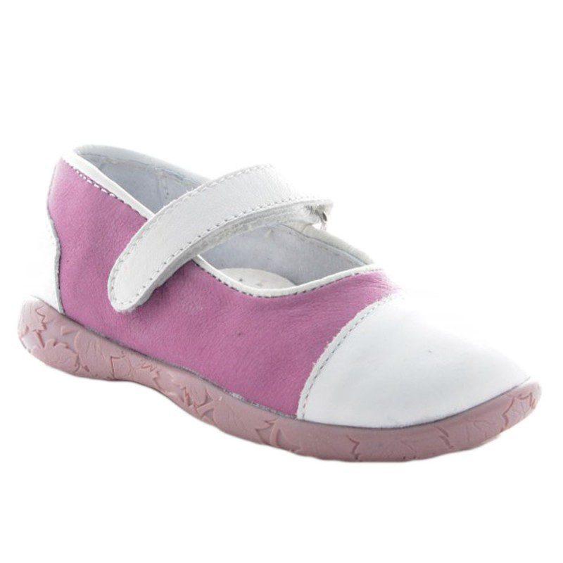 Pantofi fete piele roz/alb, marimi 21-30