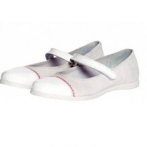 Pantofi fete Pj Shoes Cherry alb