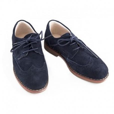 Pantofi piele baieti bleumaren