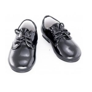 Pantofi piele copii negru/lac