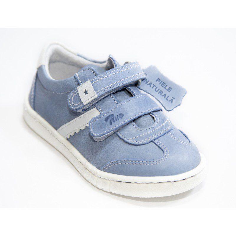 Pantofi sport din piele naturala Tino blu