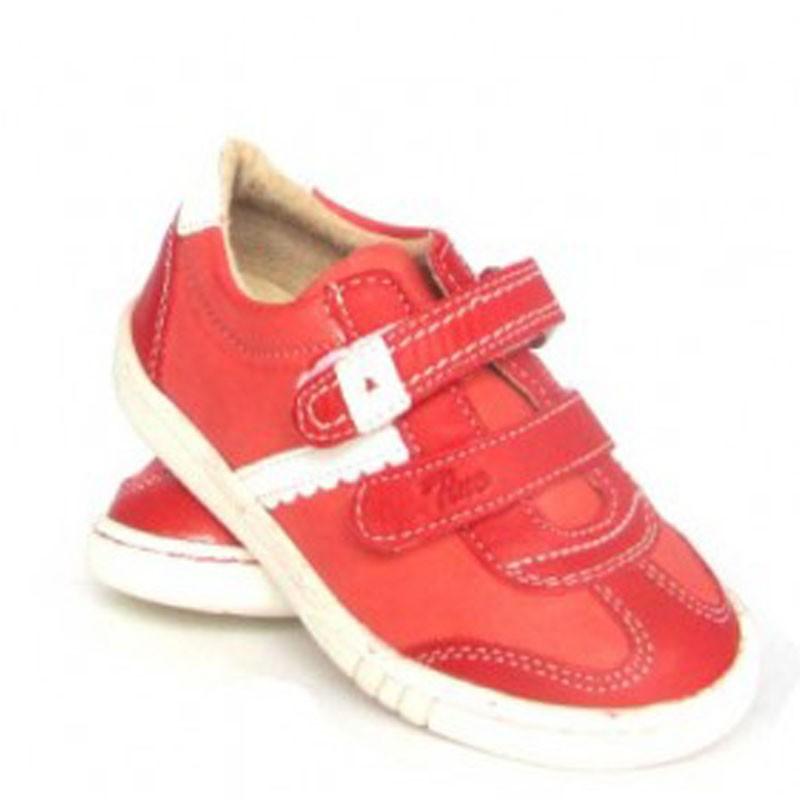 Pantofi sport rosii din piele naturala, marimi 20-22