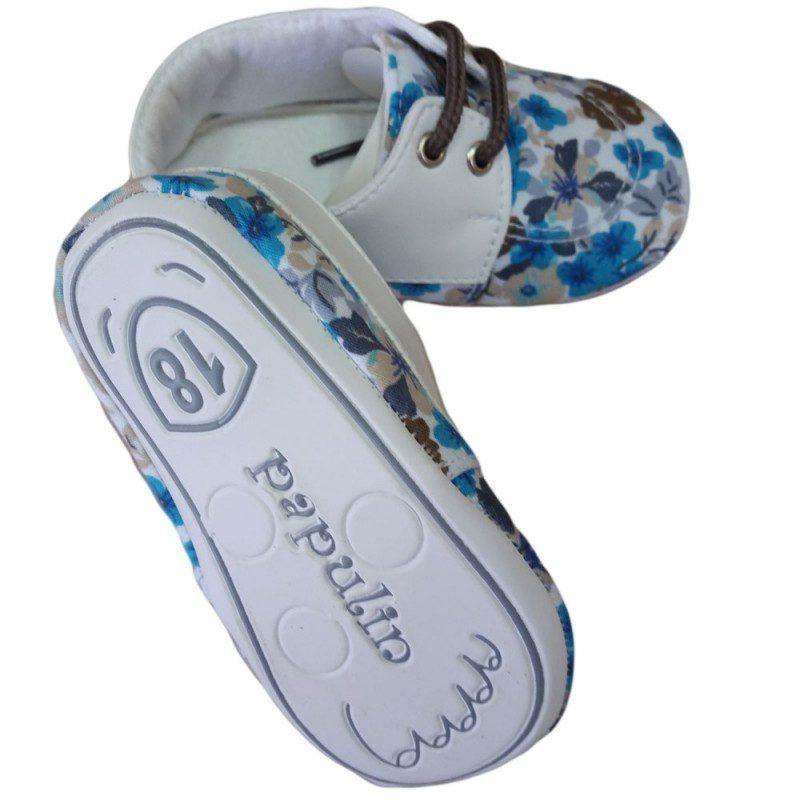 Pantofiori copii cu imprimeu floral, marimea 18