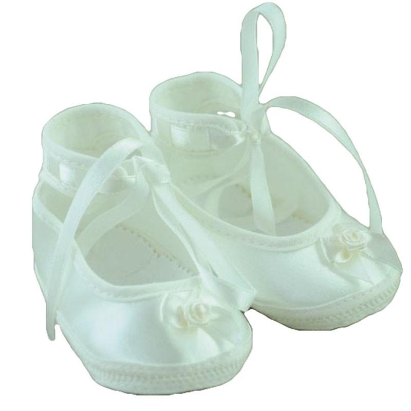 Pantofiori fetite botez ivory